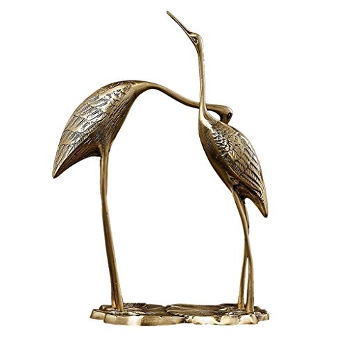 JYDQM Skulptur Dekoration - Outdoor/Indoor Accent Metall Patina Cranes Figurine Statuen Vogel Kupfer/Bronze