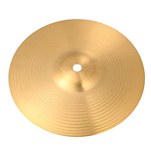 EXCEART Hi Hat Becken Crash/Ride Becken Messing Stabiles Hi-Hat Becken für Schlagzeugspieler Percussion Drum, 20,3 cm
