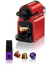 Nespresso Krups Inissia XN1005 capsulemachine, zeer snel gebruiksklaar, automatische uitschakeling, Ruby Red