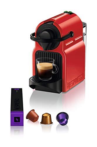 Nespresso Krups Inissia XN1005 ekspres do kawy na kapsułki | bardzo szybka gotowość do pracy | automatyczne wyłączanie | Ruby Red