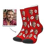 whmyz - Regalo personalizado para novios o San Valentín, para foto, calcetines, boda, recuerdo, estilo personalizado, 8 unidades
