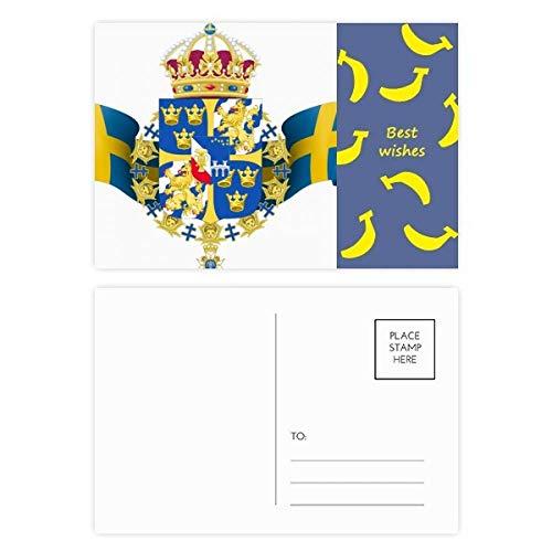 Postkarten-Set Schweden-Nationalemblem, Landes-Symbol, 20 Stück