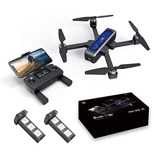 Drone Gps, Drone Gps, Mjx Bugs 4W Mini Con Videocamera Hd Live Video Wifi,4W Bugs 5G 4K Quadcopter Giocattolo Per Mjx,Buono Per Principianti,Motore Brushless Flusso Ottico Posizionamento Globale