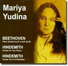 Beethoven, Hindemith - Piano Sonatas - Yudina (1999-08-02)