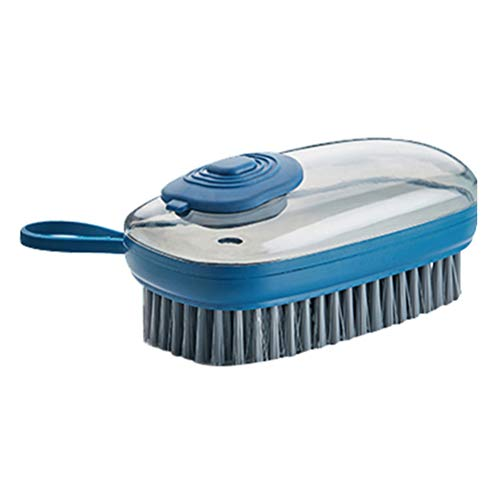Katyma Cepillo de limpieza con dispensador de detergente, cepillo rellenable para sartenes, ollas, vajillas, cocina