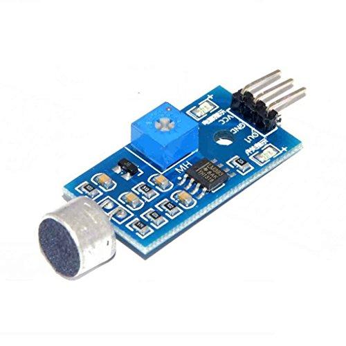 Módulo Sensor de detección de Sonido Sensor de Sonido Vehículo Inteligente para Arduino 3.2 cm * 1.7 cm