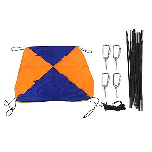Parasol para barco, cobertizo para 4 personas con tapa superior plegable para pesca