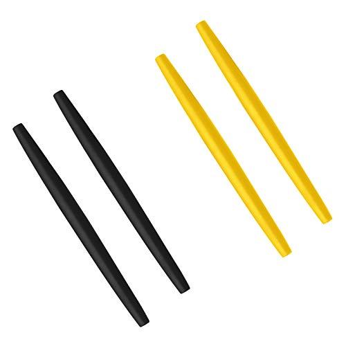 BlazerBuck Calcetines de repuesto para Oakley Glass OX3024 OX3085 OX3144 OX5055 OX5113 OX5120 OX3133 - Negro + Amarillo
