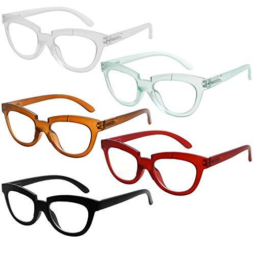 Eyekepper Reading Glasses for Women 5-Pack Half Moon Ladies Readers +2.25
