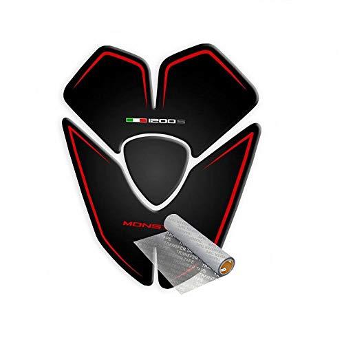 Tankpad für Ducati Monster 1200 S 2015-2019 (Schwarz/Rot)