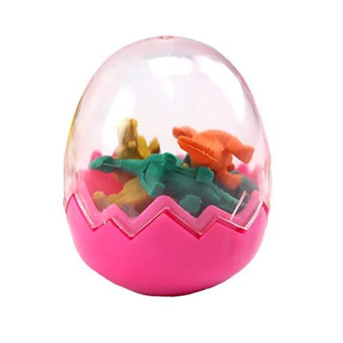 6 Pezzi Dinosaur Gomme Mini Rubber Eraser di matita in Giocattoli d'uovo per la scuola Stationery Office