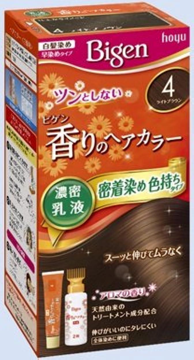 バズレバーわなビゲン 香りのヘアカラー 乳液 4 ライトブラウン × 27個セット