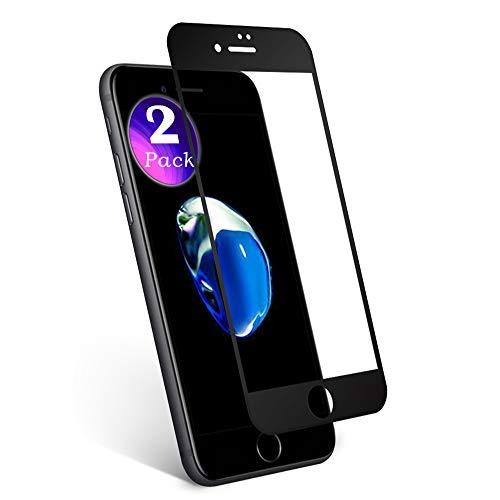 aiMaKE Protector de Pantalla para iPhone 7 Plus, 3D Pantalla Completa Cristal Templado Pantalla Protectora Anti BLU Ray,Cubre la Pantalla Completa Perfectamente para iPhone 7 Plus 5.5' Negro