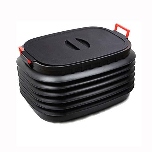 adad Campinggeschirr-Wasserkanister Tragbarer Reise-Außenwaschbehälter Für Große Autos, Faltbarer Lagertank 18L37L60L (Color : Black, Size : 60litres)