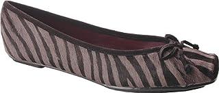 حذاء باليه مسطح Jessica Simpson Leve (للأطفال الصغار/الأطفال الكبار)، رمادي/أسود، 5 M