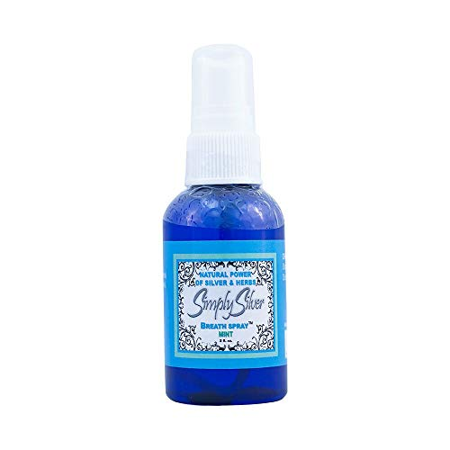 Simply Silver Breath Spray Peppermint Flavor--All Natural Colloidal Silver Spray that doubles as a Hand Sanitizer