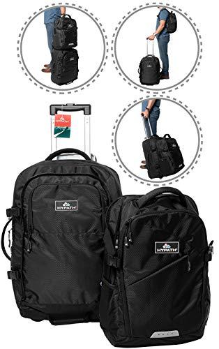 Hypath 2 in 1 umwandelbare Reisetasche – verwendbar als Rucksack, mobiles Handgepäck oder als gestapeltes Gepäck