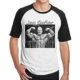 EUBCS Men's Jay Cutler Funny Printing with Short Shirt Shirt Black