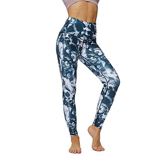 PPPPA High Taille Hüfte Yogahosen Frau Bedruckte Tasche Stretch Strumpfhose Sport Fitness Neun-Punkt-Hose Taille Hüfte Hüfte Hüfte Yogahose Frau Bedruckte Taschen Sport Fitness Neun-Punkt-Hose