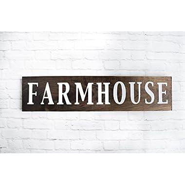 Dark Walnut Rustic Farmhouse Wood Sign - Handmade Wooden Plaque