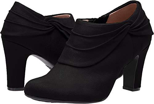 LifeStride Women's Corie Ankle Boot, Black, 9 M US