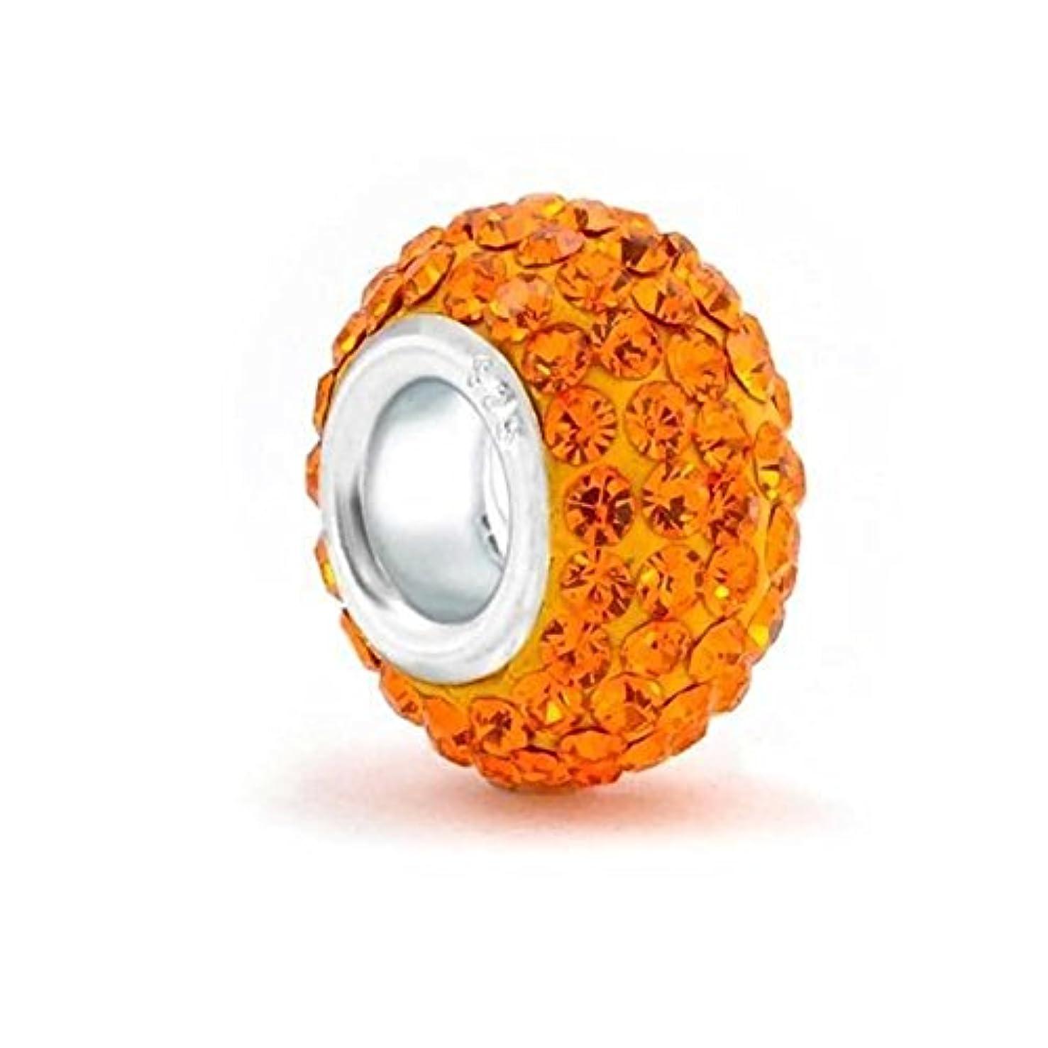 Orange 925 Sterling Silver Bead Fits European Charm Bracelet
