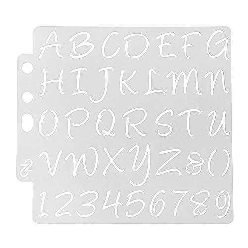 Starnearby 1pc plastica torta stencil fondente per decorazione in rilievo DIY Cookie Mold Kitchen Bareware Letter-a