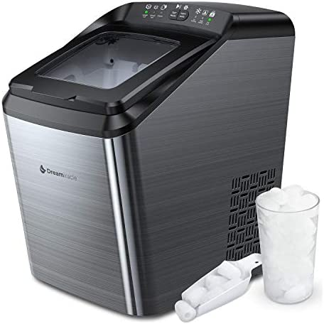 Dreamiracle Ice Maker Machine for Countertop 33 lbs Bullet Ice Cube in 24H 9 Ice Cubes Ready product image