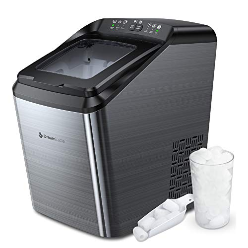 Dreamiracle Ice Maker Machine for Countertop, 33 lbs Bullet Ice Cube in 24H, 9 Ice Cubes Ready in 7-10 Minutes, 2.8L Ice Maker Machine with Ice Scoop and Basket
