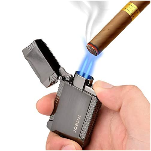 TOPKAY Torch Lighter, Butane Lighter, Windproof Double Jet Flame Torch Lighter, Refillable Gas Lighter, Cool Pocket… 5