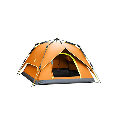 Double-Layer Design Pop Up Tent for 3 To 4 Person Allows 2 Tents Be Used Separately Featured UV Protection for Camping Hiking Outdoor Activities