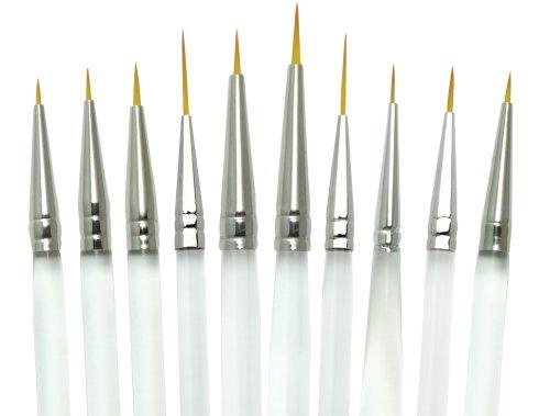 Royal and Langnickel Aqualon - Set di pennelli di precisione, confezione da 10