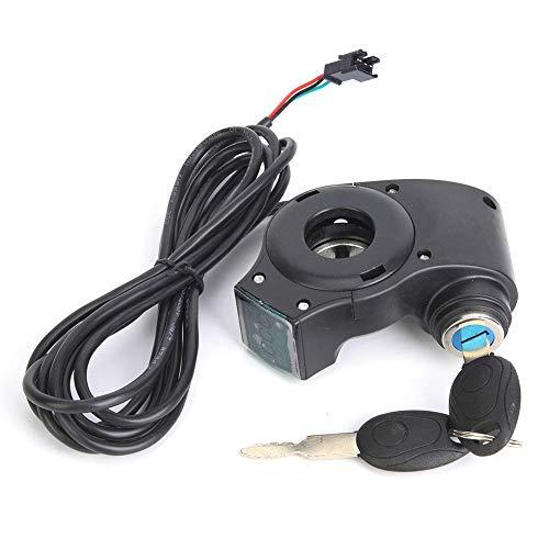 WLJBD E Bicicleta Thumb Acelerador del Acelerador, Digital LCD Pantalla de Voltaje de la batería Potencia de Encendido con Cerradura de Llave para Bicicleta eléctrica de Scooter eléctrico // 171