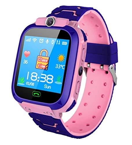 Oyznsb Intelligente horloges voor kinderen, waterdicht, intelligent horloge, sos antil lost 2G, simkaart, wandklok, oproep, locatie-tracker, Roze