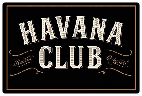 Blechschild 20x30cm gewölbt Havana Club Deko Geschenk Schild