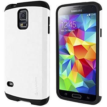 LUVVITT Ultra Armor Samsung Galaxy S5Caso | Doble Capa de absorción de Golpes Carcasa con función Atril para Samsung Galaxy S5SV (Embalaje de Venta)