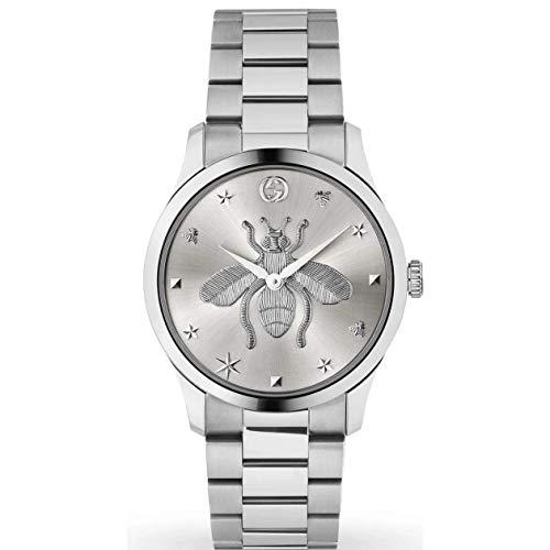 Gucci Reloj Unisex de Acero Inoxidable con una Abeja EN el CUADRANTE YA1264126