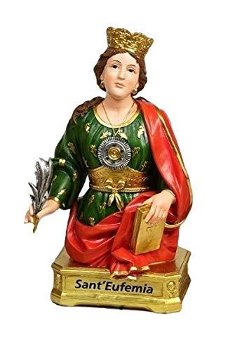 Statua mezzobusto Sant'Eufemia in Resina 28cm