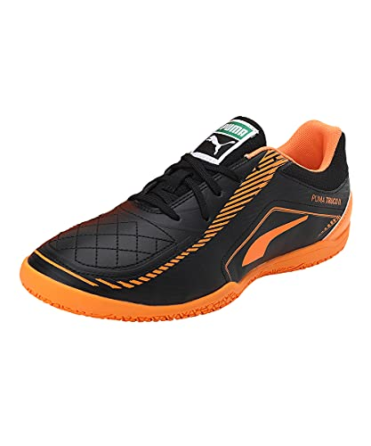 Puma Truco II, Zapatillas de fútbol Sala Unisex Adulto, Black-Orange Glow, 44 EU