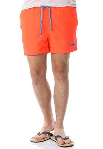 Superdry Badeshorts Herren Beach Volley Swim Short Havana Orange, Größe:S