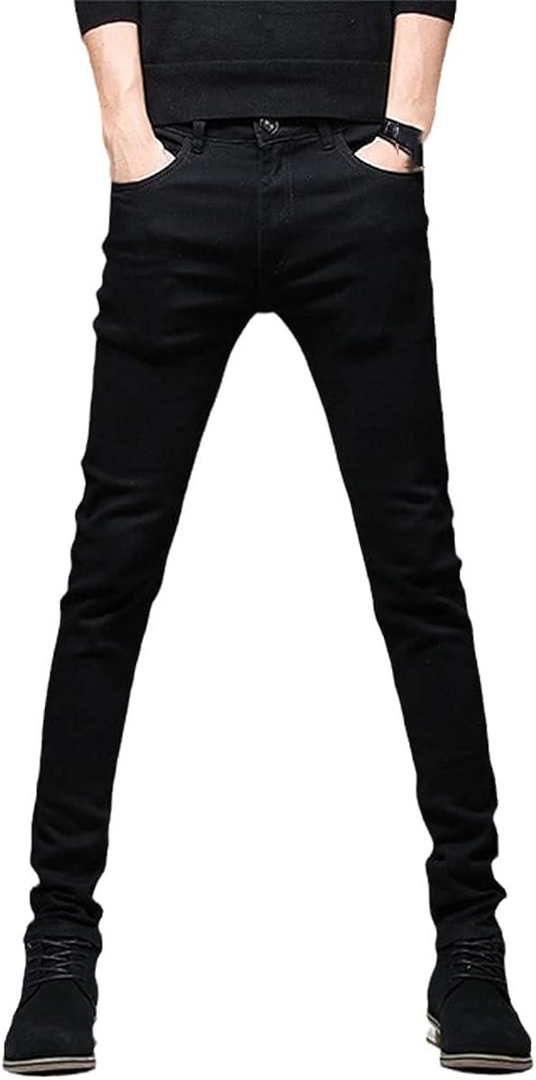 Casual Slim Stretch Black Jeans Men's Pencil Pants Skinny Jeans