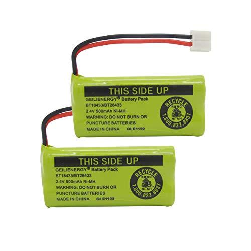GEILIENERGY BT18433 BT28433 BT184342 BT284342 BT-1011 Battery Compatible for Vtech Cordless Phone CS6209 CS6219 CS6229 DS6151 AT&T CL80100 CL80109 Uniden DCX400 Handset (Pack of 2)