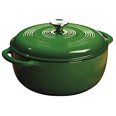 Lodge EC6D53 Enameled Cast Iron Dutch Oven, 6-Quart, Emerald Green