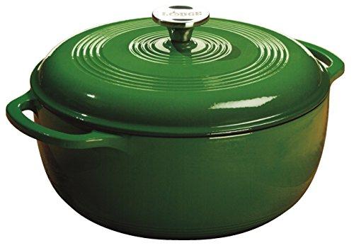 Lodge Color 6 Quart Enamel Dutch Oven, Emerald