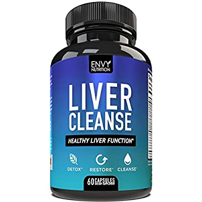 Liver Cleanse - Healthy Liver Function & Detox Supplement - Milk Thistle, Silymarin, Beet, Artichoke, Dandelion, and Chicory for Enhanced Liver Support - 60 Capsules from Envy Nutrition