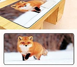 Mouse pad Snow Fox Gaming Mousepad Gear Animal Gamer Mouse Mat Pad Game Computer Pad Mouse Photo Play Mats Computer mat