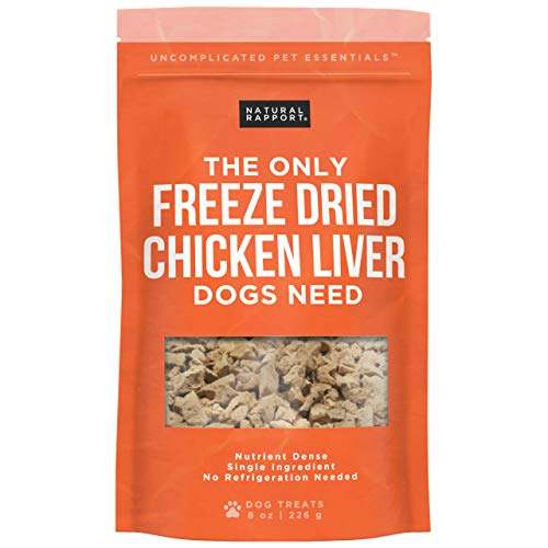 Natural Rapport Chicken Liver Dog Treats - The Only Freeze Dried Chicken Liver Dogs Need - Grain-Free Chicken Bites, Dog Treats for Small and Large Dogs (8 oz.)