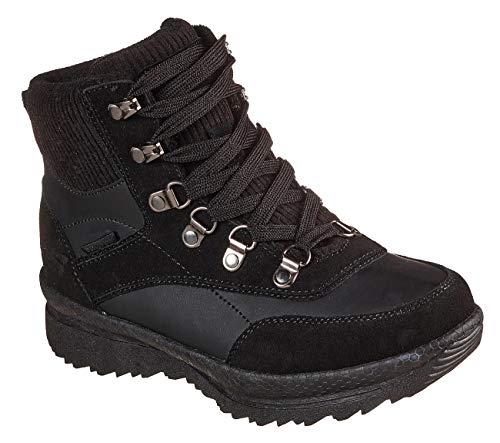 Skechers Women's Road Heights Ankle Boot, Black, 11