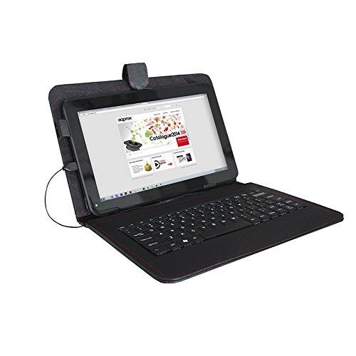 Approx APPIPCK04 - Funda con Teclado para Tablet de 9.7', Color Negro