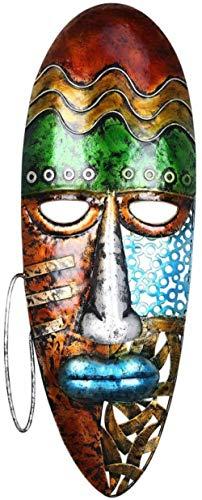YsKYCA Estatua Escultura Decoración,Regalo Artesanal De Figuras Coleccionables Esculturas Y Arte Africano Colgante De Pared Interior Suave Colgante De Pared De Hierro Forjado-B_21 * 5 * 56Cm